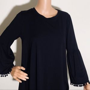 BNWT • Johnny Was Black top- bell sleeve